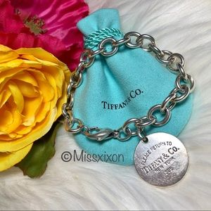 ❤️Tiffany & Co. Authentic Round Tag Bracelet